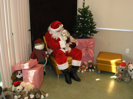Buffy with Santa