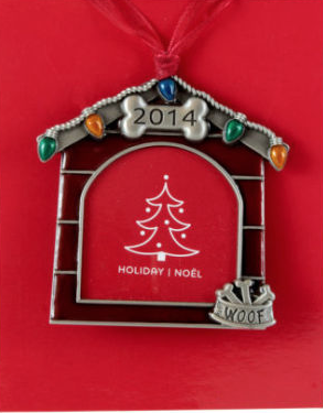 2014 Christmas dog house picture frame