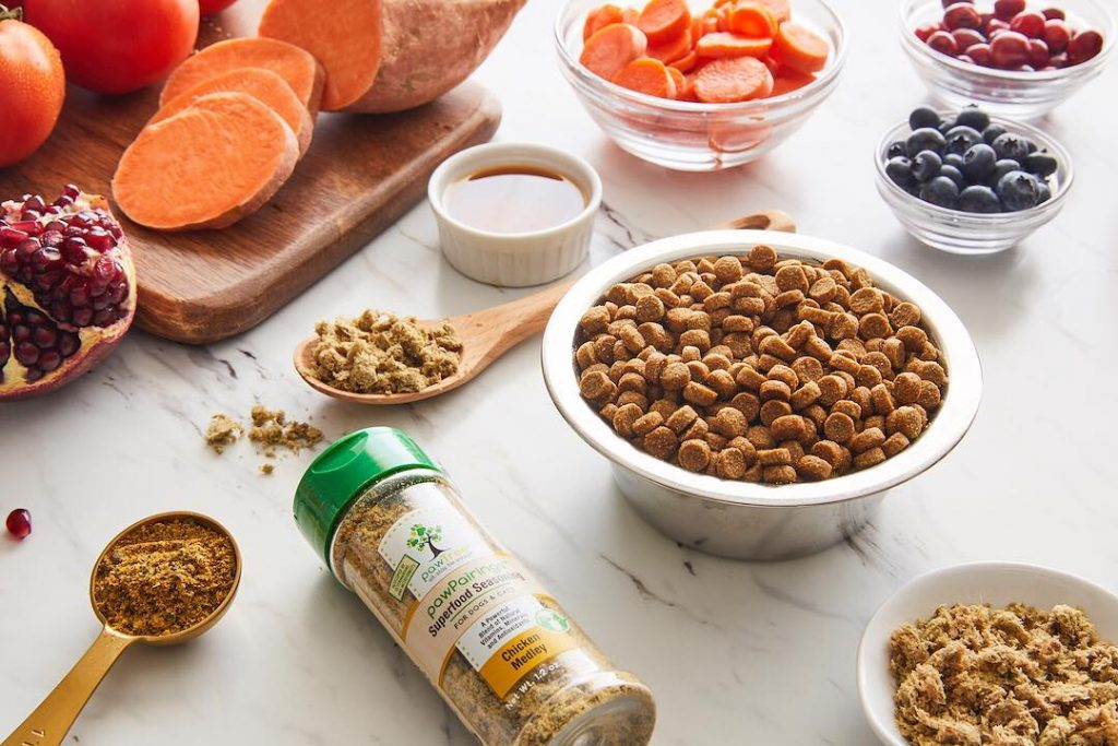 Dog food toppers are now healthy and loaded with antioxidants.