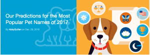 Nationwide Pet Insurance and Petco make 2017 predictions for popular pet names