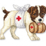 Sick puppy illustration